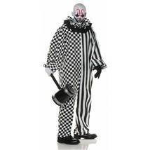 Underwraps Chaos Clown Kariert Gestreift Adult Herren Halloween Kostüm 30187 - $37.85+