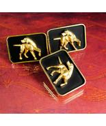 Large Dog cuff links Hickok Golden Retriever Pointer Hunting Irish sette... - $175.00