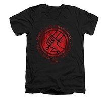 Simply Superheroes Mens hellboy bprd classic logo slim fit v-neck t shir... - $28.99