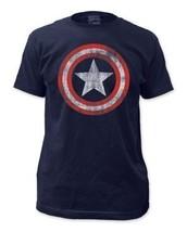 Simply Superheroes Mens captain america distressed shield mens t shirt L... - £18.93 GBP