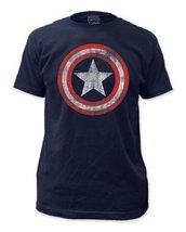 Simply Superheroes Mens captain america distressed shield mens t shirt XL - £18.93 GBP