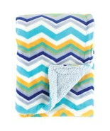 Double Layers Blue Yellow White Zig Zag Striped Soft Comfy Baby Crib Bla... - €63,64 EUR