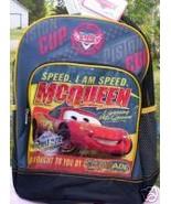 Pixar Disney Lightning McQueen *CARS* Backpack NEW Canvas Full Size Book... - $22.99