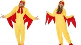 Smiffys Gallo Fattoria Giallo Tutto in uno Unisex Costume Halloween 27857 - $35.90
