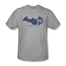 Simply Superheroes Mens batman 75th anniversary collage logo mens t shirt 4XL - $28.99