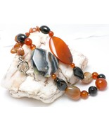 Agate Red Carnelian Black Onyx Large Bold Gemst... - $28.00