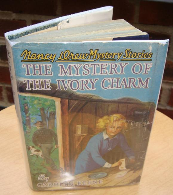Primary image for Nancy Drew 13 The Mystery of the Ivory Charm 1952A-36 hcdj Carolyn Keene