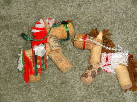 WINE CORK HORSE ORNAMENTS, handcrafted, order special colors - $8.60