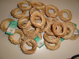 25 small vine WREATHS, natural beige, outside d... - $14.03