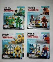 New Kre-O Mini Transformers Lot Optimus Prime, Bumblebee, Sideswipe, & G... - $48.47