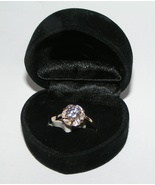 White Sapphire Cocktail Ring Free Shipping - $20.00