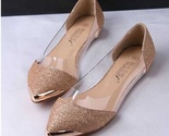 Fashion glitter pointed toe flat shoes thumb155 crop