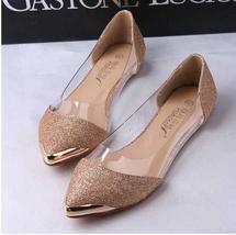 Fashion glitter pointed toe flat shoes thumb200