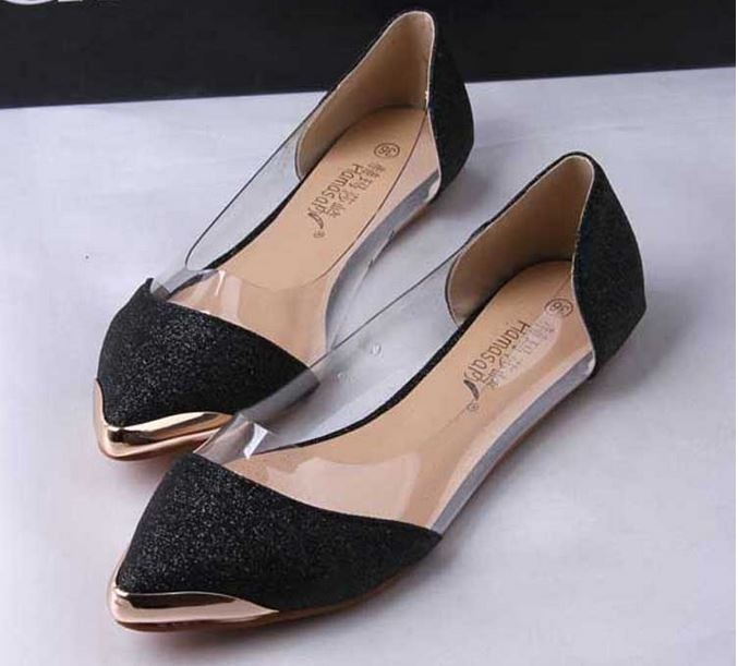 Fashion Glitter Pointed Toe Flat Shoes