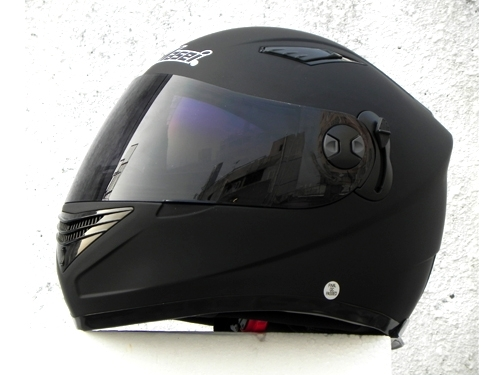 Masei 830 Matt Black Motorcycle Helmet
