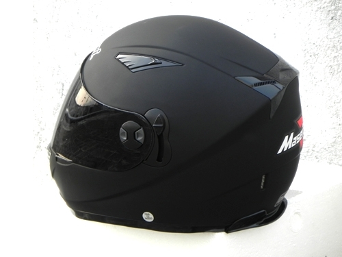 Masei 830 Matt Black Motorcycle Helmet image 2