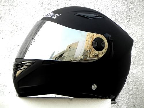 Masei 830 Matt Black Motorcycle Helmet image 4
