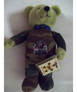 "8"" Valor  DOD  Army Plush Bear with Camoflauge Outfit - New With Tag   - $8.50"