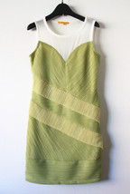 Clearance! Pretty Alice + Olive Green Color Block Pleat Dress, Sz Small - $50.00
