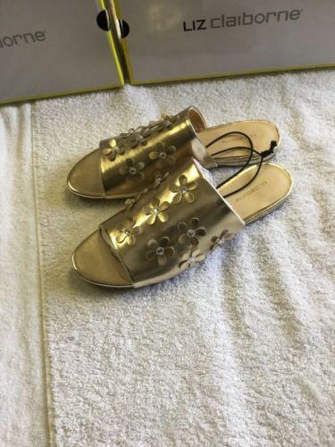 Liz Claiborne Leigh Womens Slide Sandals NWB