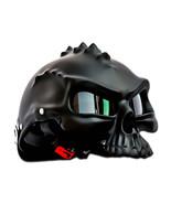 Masei 489 Matt Black Skull Chopper Motorcycle Helmet - $499.00