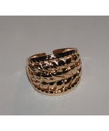 New Adjustable Rose Gold Cigar Band Ring Free Shipping - $15.00