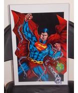 DC Superman Breaking Free Glossy Print 11 x 17 In Hard Plastic Sleeve - $24.99