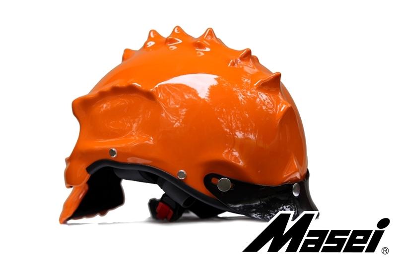 Masei 489 Orange Skull Chopper Motorcycle Helmet image 3