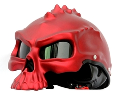 Masei 489 Matt Red Skull Chopper Motorcycle Helmet - $499.00
