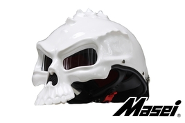 Masei 489 Glossy White Skull Chopper Motorcycle Helmet - $599.00