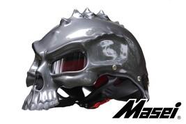 Masei 489 Glossy Gray Skull Chopper Motorcycle Helmet - $499.00