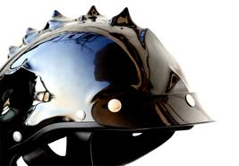 Masei 489 Glossy Black Skull Chopper Motorcycle Helmet image 4
