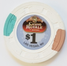 $1 Casino Royal & Hotel Las Vegas, Nevada  Casino Chip  - $4.95