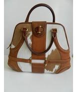 Alexander McQueen Bag Novak Calf Hair Pony Print Tan Leather Satchel Han... - $574.20