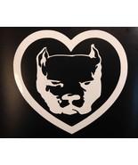"pit bull sticker *E376* heart 6"" decal apbt Amstaff American Bully Pitbull - $3.99"