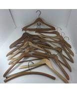 Wooden Suit Hangers Lot of 13 Vintage basic design - $47.53
