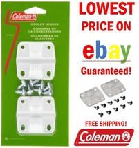 Coleman Plastic Cooler 2 hinges 8 screws 6262-1141 Ice Chest Hinge Repla... - $6.23