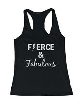 Women's Workout Tanks - Fierce and Fabulous Black Cotton Sleeveless Tank... - $14.99+