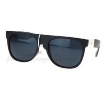 Super Dark Lens Black White Flat Top Round Sunglasses Marijuana Leaf - $9.85