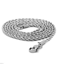 """Men & Lady Stainless Steel 2.4mm French Rope Link Chain Necklace 30"""" Inches - $9.89"""
