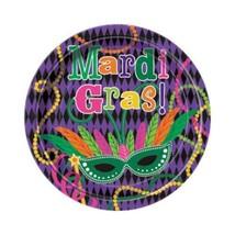 "Mardi Gras Party Dessert Plates 7"" 8 ct - $53,92 MXN"