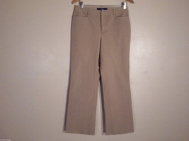 "GAP Women's Size 10 Khaki Chino Boot Cut Stretch Flat Front 3 Pockets 28"" Inseam"