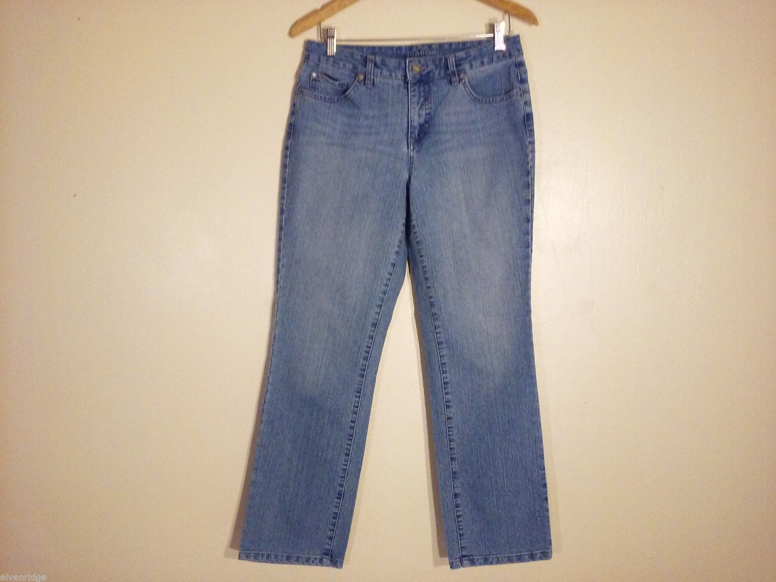 Sonoma Life + Styles Women's Size 10 Denim Jeans Straight Leg Medium Blue Wash