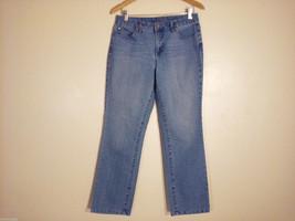 Sonoma Life + Styles Women's Size 10 Denim Jeans Straight Leg Medium Blue Wash image 1
