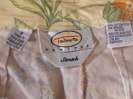 Talbots Women's Size 8 Petite 8P Floral Print Capris Pants in Pink Green Orange image 4