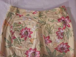 Talbots Women's Size 8 Petite 8P Floral Print Capris Pants in Pink Green Orange image 5