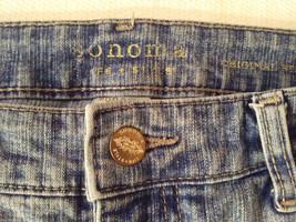 Sonoma Life + Styles Women's Size 10 Denim Jeans Straight Leg Medium Blue Wash image 4