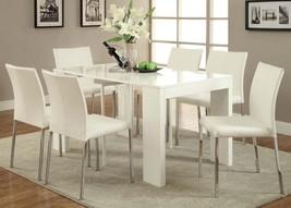 Acme 70995_KIT Modern Lilah White & Chrome Finish Dining Table Set