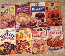 Set 8 Pillsbury Cookbooks Annual & Bake-Off Winners - $19.75