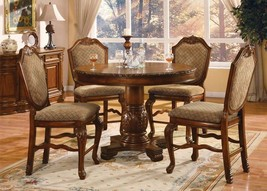 Acme 04082-KIT Chateau De Ville Cherry Finish Counter Height Dining Table Set